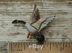 Vintage Old Pawn ZUNI DARYL PINTO Sterling Silver GOOSE BIRD DUCK Pendant PIN