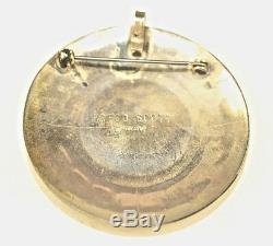 Vintage Rosco Scott Native American Navajo Sterling Silver Turquoise Pin Pendant