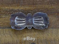 Vintage Turquoise Sterling Silver Brooch by Don Lucas