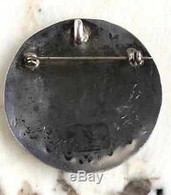 Vintage Zuni Native American Sterling Multi Stone Inlay Thunderbird Pendant Pin