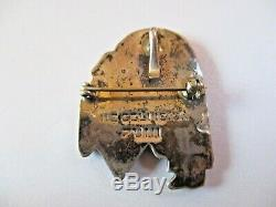 Vintage Zuni Rainbow Man Herbert Cellicion Inlay Pendant Brooch Pin 1 7/16 High