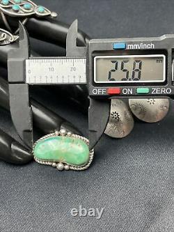 Vtg Lot Navajo Turquoise 3 Rings 1pin, Earrings Sterling Silver