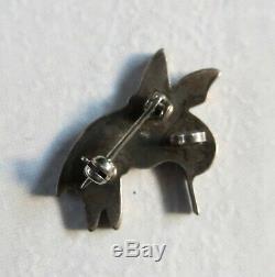 Vtg ZUNI Virgil Benn Sterling Silver Hummingbird Pendant Pin Brooch Spiney Oystr
