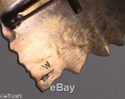 Wilbur Wauneka Vintage Navajo Indian Sterling Silver Eagle Pin Brooch Pendant