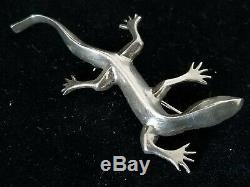 Yaqui Danny Romero Handmade Sterling Silver Lizard Pin Brooch 11.5 Grams