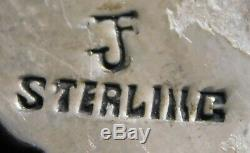 ZUNI JF STERLING MULTI STONE INLAY HANDMADE Vintage KACHINA DANCER PIN Estate