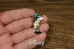 Zuni GOOFY Pin Pendant Paula Leekity inlay Zunitoons Iridescent Penn Shell