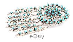 Zuni Handmade Sterling Silver Turquoise Petit Point Cluster Pin- Wayne Johnson