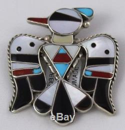 Zuni Indian Pendant Pin 50% Off Thunderbird Bobby & Corinne Shack Sterling Multi