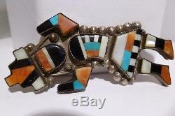 Zuni Lambert Homer Inlay Rainbow Man Pin Pendant Multi Stone Inlay Vintage