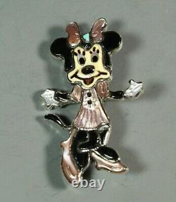 Zuni Minnie Mouse Pendant Pin Andrea Lonjose Shirley inlay Zunitoons Zunitoon
