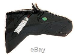 Zuni Native American Inlay Stallion Horse Pin Pendant by HM Coonsis SKU#223447