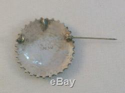 Zuni Native American Norman/Virginia Hooie, Sterling Turquoise Pin/Brooch Pendant