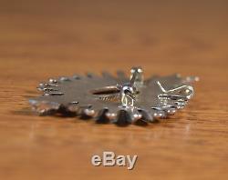 Zuni Turquoise Needle Point cupid Heart Arrow Pendant Pin Dan Etsate